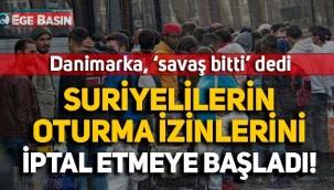 Danimarka, Suriyelilerin oturma izinlerini iptal etmeye başladı