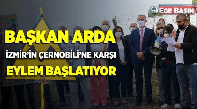 Gaziemir Belediye Başkanı Halil Arda 'İzmir'in Çernobili'ne karşı eylem başlatıyor