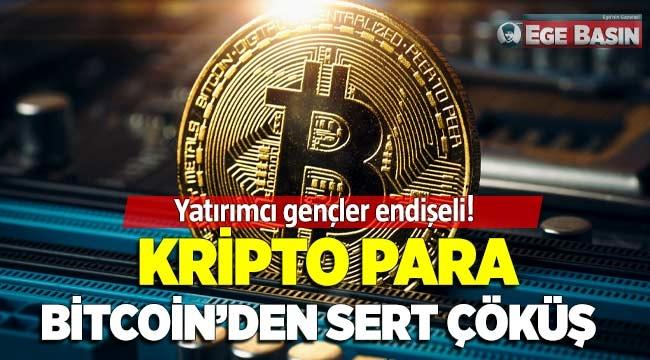 Kripto para BİTCOİN'den sert çöküş!