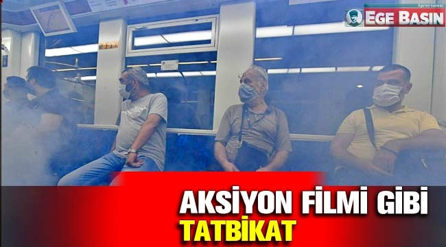 İzmir Metrosu'nda Nefes Kesen Tatbikat!